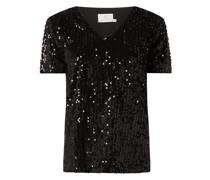 Shirt mit Pailletten Modell 'Colena'