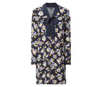 Kleid mit Schluppe und Blumenmuster