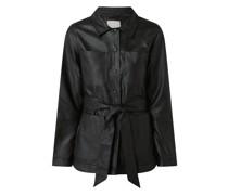 Bluse in Leder-Optik Modell 'Septima'