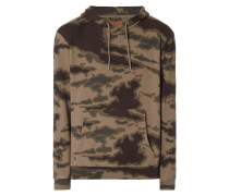 Oversized Hoodie mit Camouflage-Muster