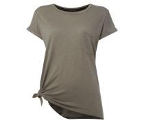 T-Shirt mit seitlich geknotetem Saum