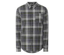 Slim Fit Freizeithemd aus Baumwoll-Leinen-Mix Modell 'Almar'