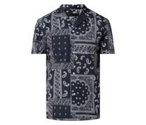 Regular Fit Freizeithemd aus Baumwolle mit kurzem Arm Modell 'Bijan'
