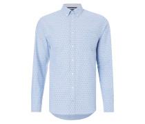 New York Fit Freizeithemd mit Allover-Muster