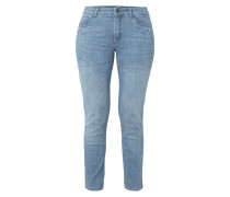 Stone Washed Slim Fit Jeans mit Ziersteinen