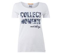 T-Shirt mit gummiertem Message-Print