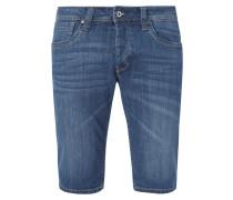 Stone Washed Regular Fit Jeansshorts