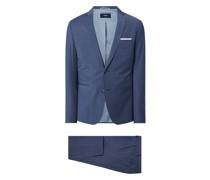 Super Slim Fit Anzug mit 2-Knopf-Sakko Modell 'Cifaro'