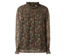 Blusenshirt mit gesmoktem Einsatz Modell 'Lindia'