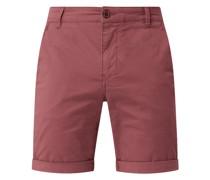Straight Fit Chino-Shorts mit Stretch-Anteil Modell 'Paris'