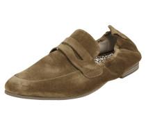 Loafer aus Veloursleder mit elastischem Einsatz
