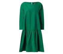 Kleid aus Taft mit angeschnittenem 3/4-Arm