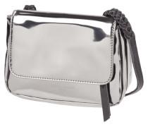 Crossbody Bag aus Leder in Metallicoptik