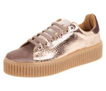 Sneaker mit Plateausohle aus Gummi