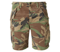 Classic Fit Cargoshorts mit Camouflage-Muster