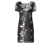 Kleid mit grafischem Muster aus Pailletten
