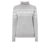 Pullover mit Norweger-Dessin und Rollkragen