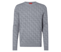 Loose Fit Pullover mit Zickzack-Muster