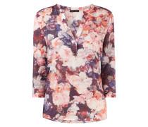 Blusenshirt mit Seide und floralem Muster