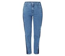 Stone Washed High Waist Jeans mit Taschenschatten