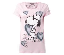 T-Shirt mit Snoopy-Print und Ziersteinen