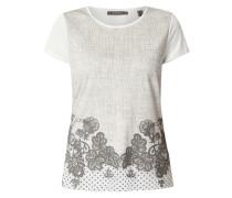 Shirt mit floralem Print und Punkten