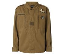 Oversized Jacke mit Badges