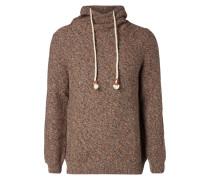 Pullover mit Tube Collar in Wickeloptik