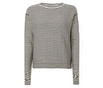 Pullover mit Streifenmuster und Stehkragen