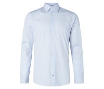 Slim Fit Hemd mit Allover-Muster