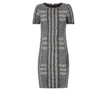 Kleid mit Besatz aus Mesh