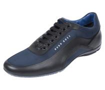 Sneakers aus strukturiertem Textil mit Lederbesatz