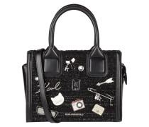 Handtasche aus Leder und Textil