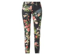 Comfort Fit Hose mit floralem Muster