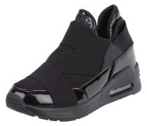 Slip-On Sneaker mit elastischen Zierriemen