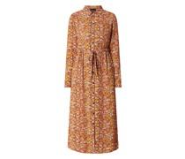 Hemdblusenkleid aus Krepp Modell 'Leona'
