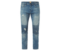 Tapered Fit Destroyed Jeans