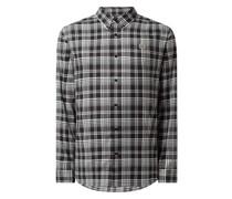 Regular Fit Freizeithemd aus Baumwoll-Lyocell-Mix