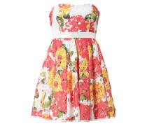 Kleid aus floraler Spitze mit Taillenpasse