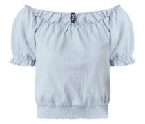Cropped Blusenshirt in Crinkle-Optik Modell 'Leaf'