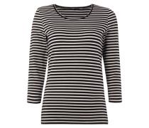 Shirt mit Streifenmuster und Dreiviertel-Ärmel