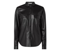 Bluse in Leder-Optik Modell 'Balady'