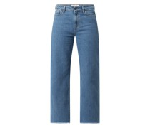 Straight Fit High Rise Jeans mit Stretch-Anteil Modell 'Bellis'