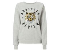 Sweatshirt mit Tiger-Aufnäher
