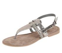 Sandalen aus Leder in Metallic-Optik