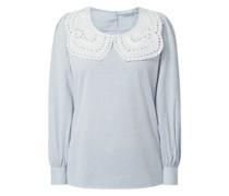 Blusenshirt mit Bubikragen aus Lochspitze Modell 'Nucelie'