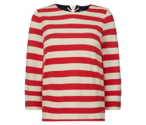 Shirt mit Streifenmuster und Schnürung