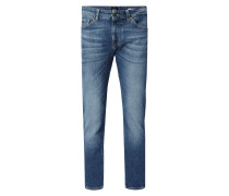 Stone Washed Slim Fit Jeans Modell 'Delaware'