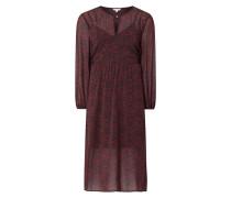 Kleid aus Krepp mit Millefleurs