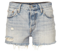 501 - Loose Fit Jeansshorts im Destroyed Look